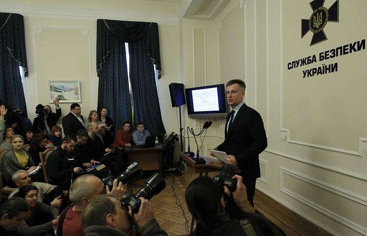 Валентин Наливайченко во время пресс-конференции в Киеве