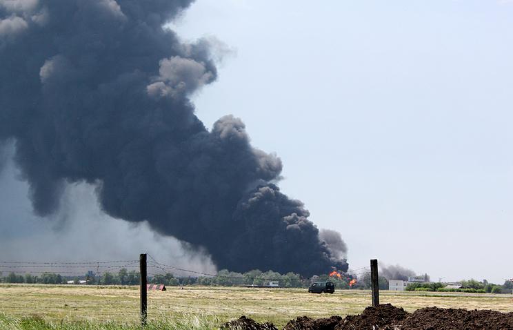 Пожар на нефтебазе под Киевом, 9 июня 2015 года