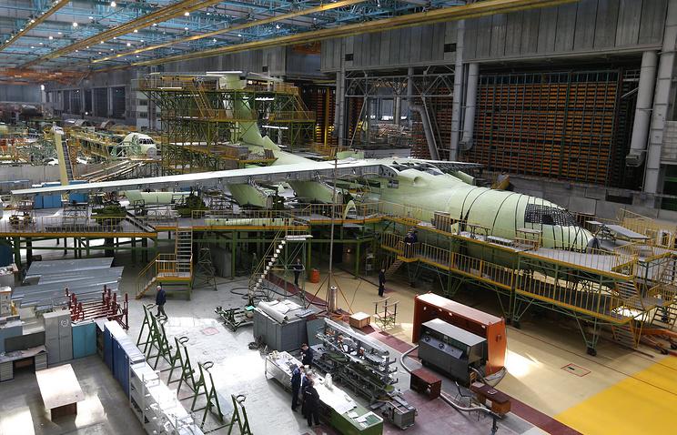 """Ил-76МД-90А на авиастроительном заводе """"Авиастар-СП"""""""