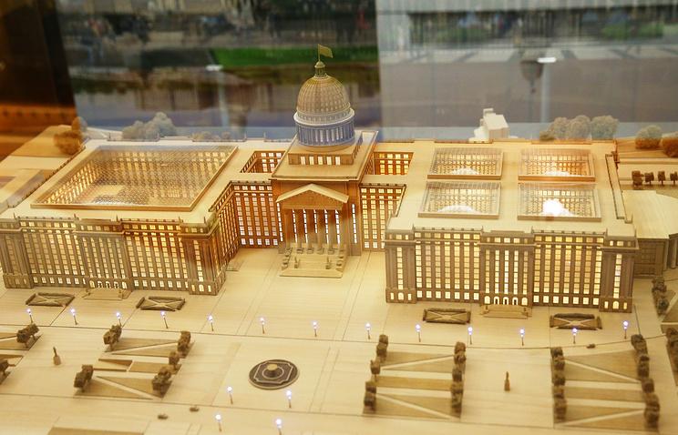 На выставке макетов нового Парламентского центра