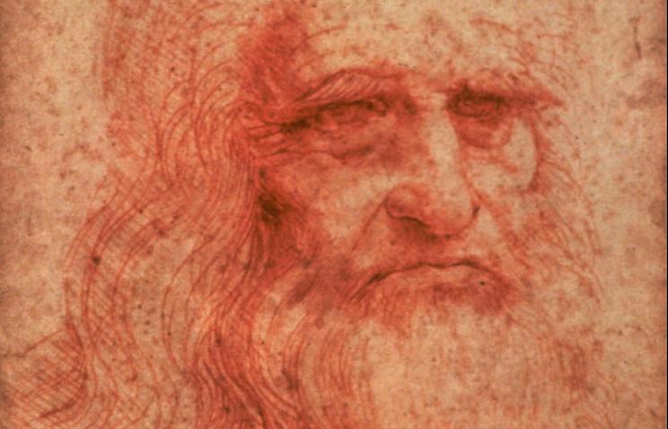 Фрагмент автопортрета Леонардо да Винчи