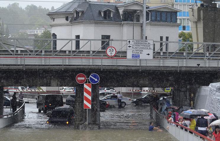 Последствие наводнения в Адлерском районе Сочи