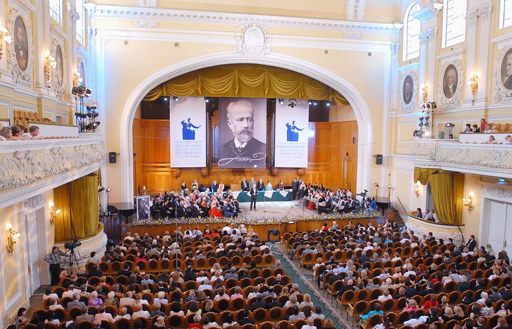 Во время Международного конкурса имени П.И. Чайковского