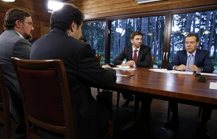 Дмитрий Медведев на встрече с Экспертным советом при правительстве РФ