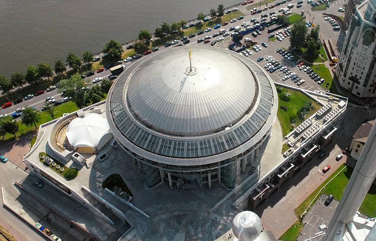 Вид на Московский международный дом музыки