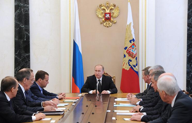 Во время заседания Совета безопасности РФ в Кремле