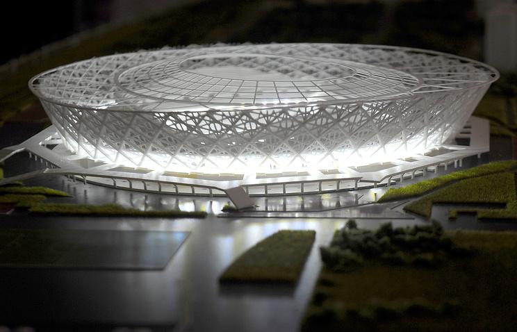 """Макет стадиона """"Арена-Победа"""", который будет построен к ЧМ-2018 в Волгограде"""