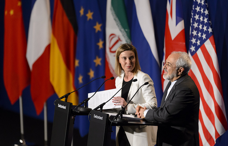 Глава дипломатии ЕС Федерика Могерини и министр иностранных дел Ирана Мохаммад Джавад Зариф