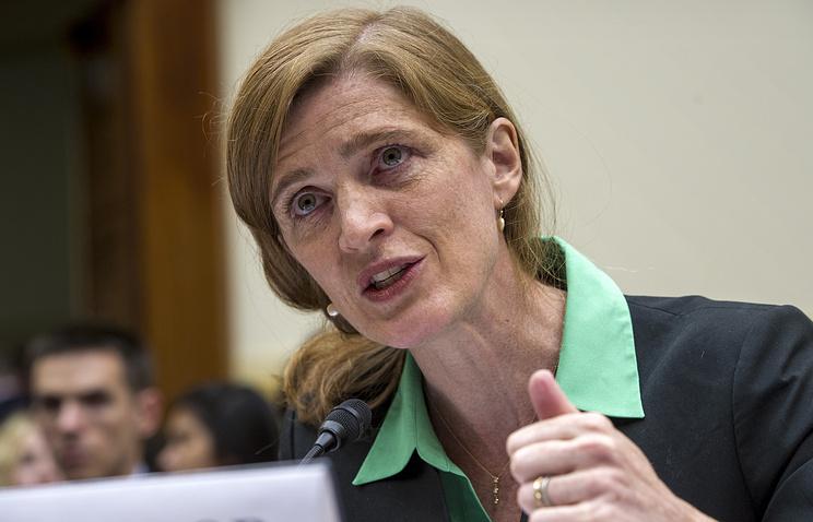 Постоянный представитель США при всемирной организации Саманта Пауэр
