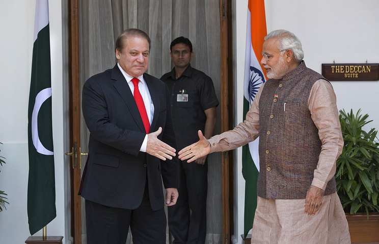 Премьер-министр Пакистана Наваз Шариф и премьер-министр Индии Нарендра Моди