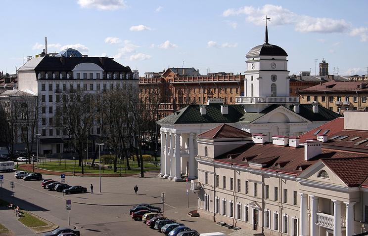 Городская ратуша на площади Свободы в Минске