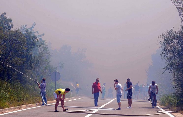 Тушения пожаров в Хорватии