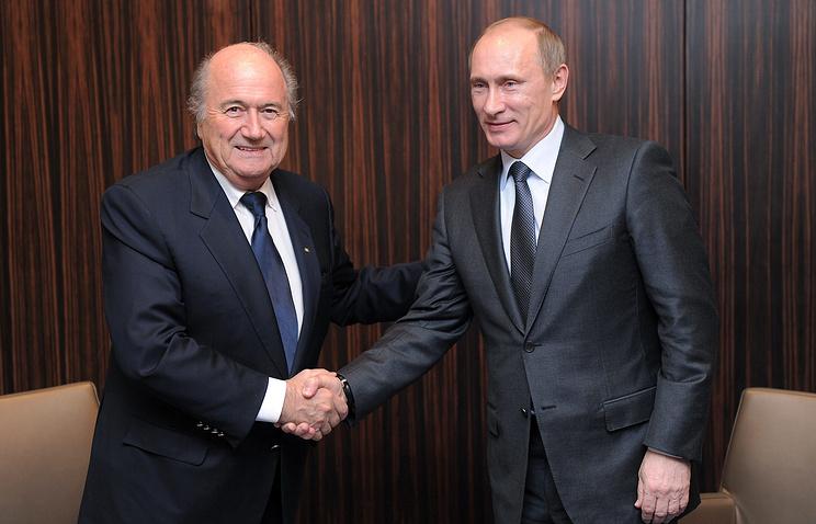 Йозеф Блаттер и Владимир Путин