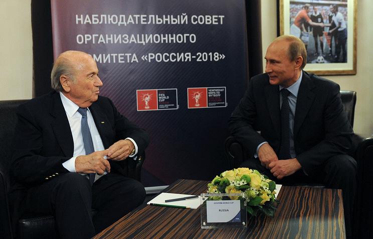 Йозеф Блаттер и Владимир Путин (слева направо)