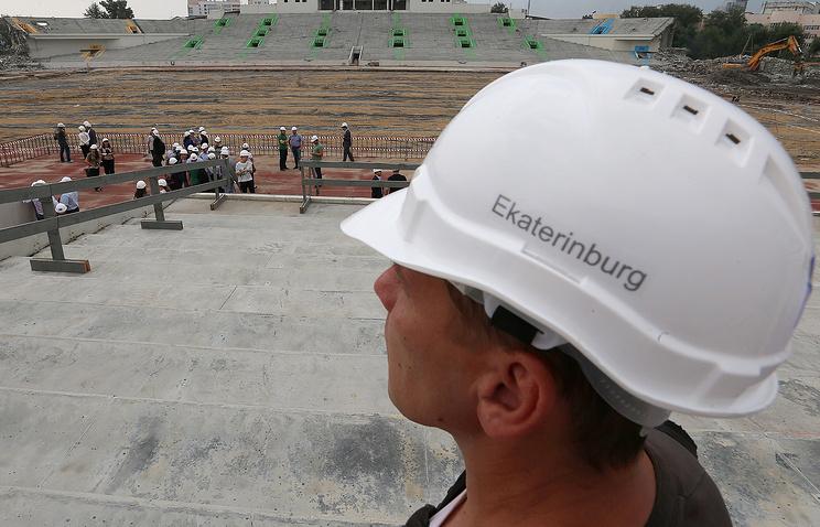 Ремонтно-реставрационные работы на Центральном стадионе в Екатеринбурге