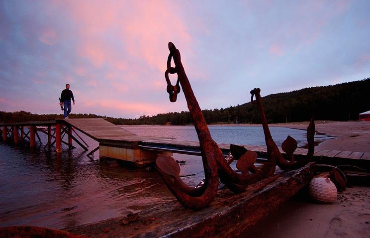 На острове Гогланд в Финском заливе