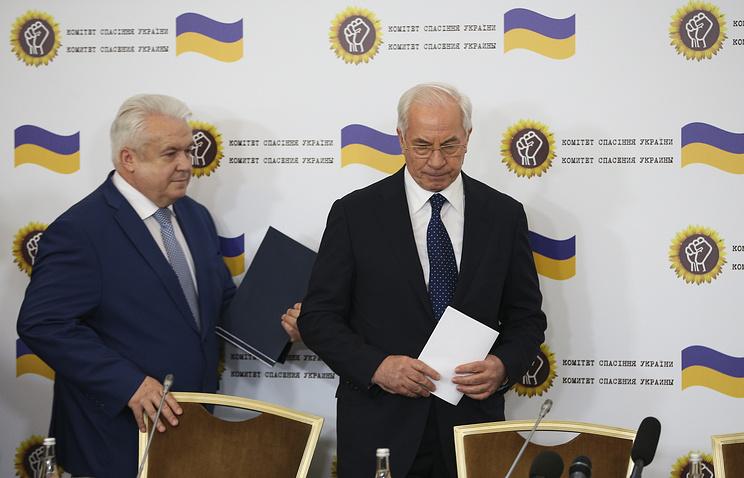 Экс-депутат Верховной рады Украины Владимир Олейник и зкс-премьер-министр Украины Николай Азаров