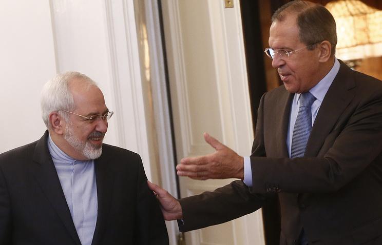 Министр иностранных дел ИРИ Джавад Зариф и министр иностранных дел РФ Сергей Лавров