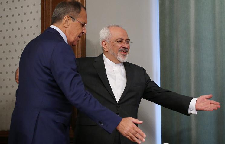 Министр иностранных дел России Сергей Лавров и министр иностранных дел Ирана Джавад Зариф