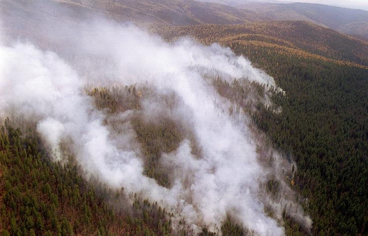 Лесные пожары в Бурятии