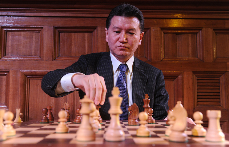 Президент Международной федерации шахмат Кирсан Илюмжинов