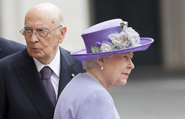 Джорджо Наполитано и Елизавета II