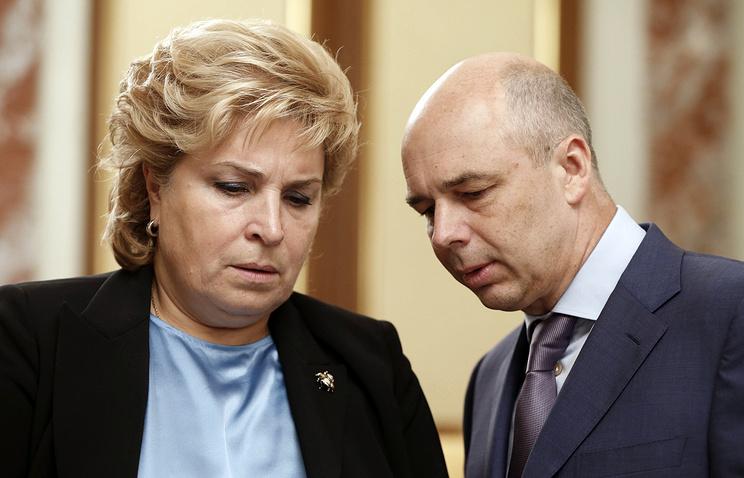 Первый заместитель министра финансов РФ Татьяна Нестеренко и министр финансов РФ Антон Силуанов