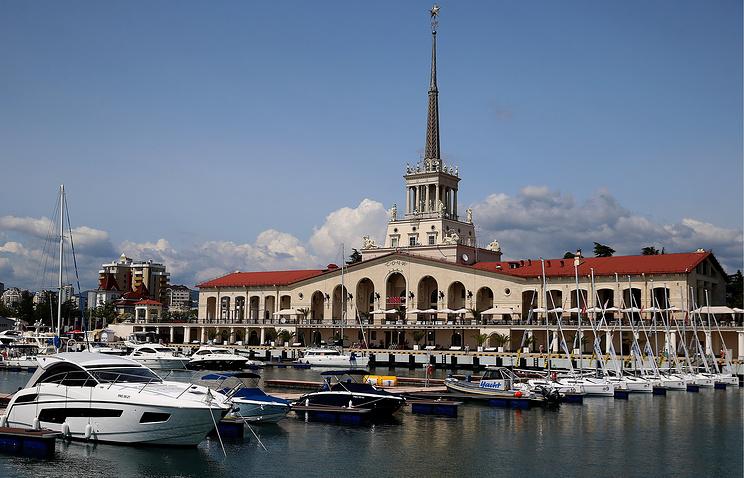 Порт города Сочи