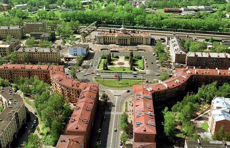Вид на площадь имени Гагарина в Петрозаводске