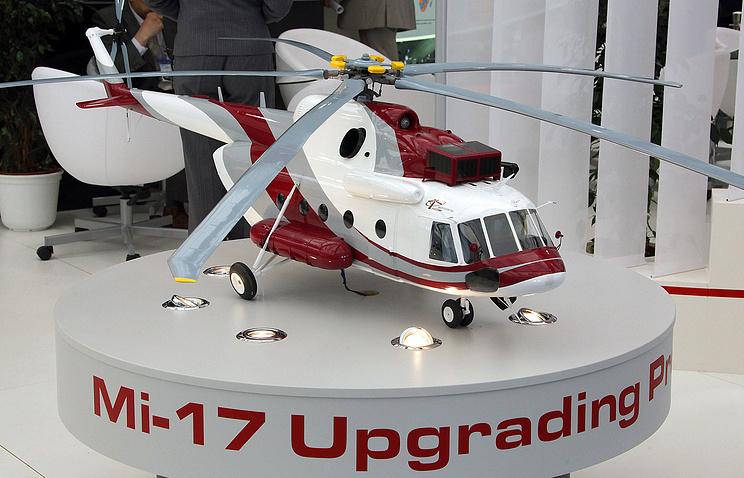 Макет среднего многоцелевого вертолета Ми-17