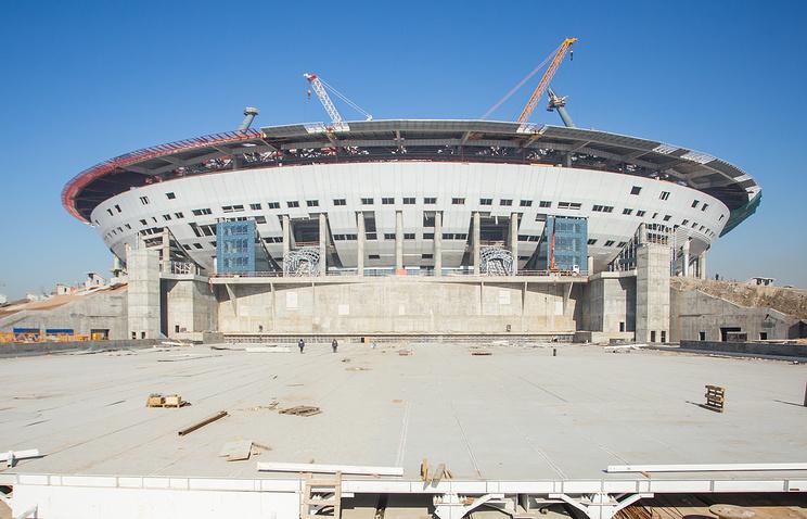 Строительство стадиона к ЧМ-2018 в Санкт-Петербурге