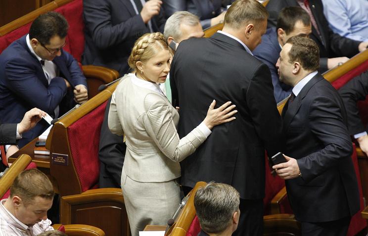 Юлия Тимошенко на заседании Верховной рады