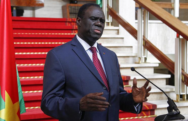 Президент Буркина-Фасо Мишель Кафандо