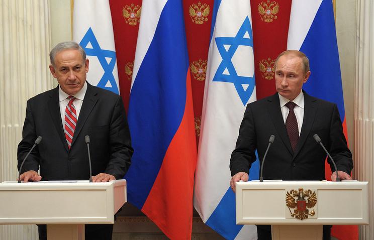 Премьер-министр Израиля Биньямин Нетаньяху и президент России Владимир Путин