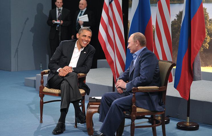 Президент США Барак Обама и президент РФ Владимир Путин