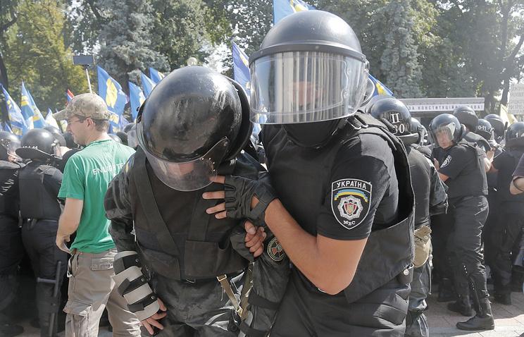 Во время столкновений у Верховной рады 31 августа