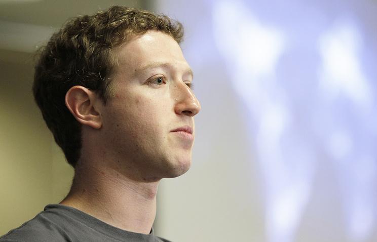 Основатель социальной сети Facebook Марк Цукерберг