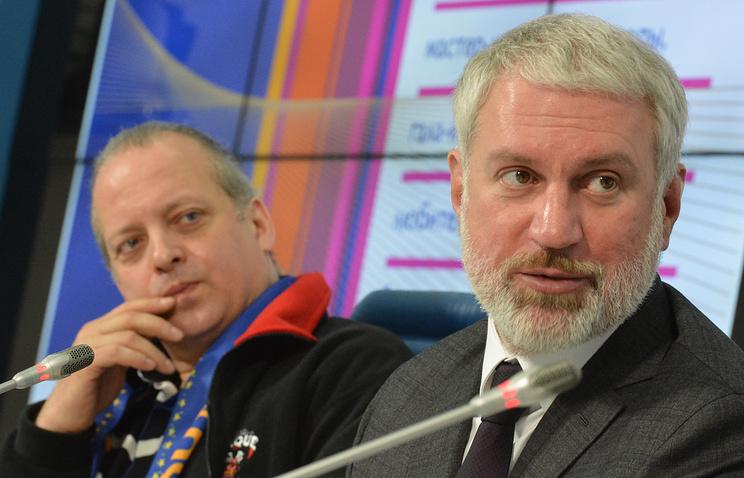 Директор Росгосцирка Вадим Гаглоев (справа)