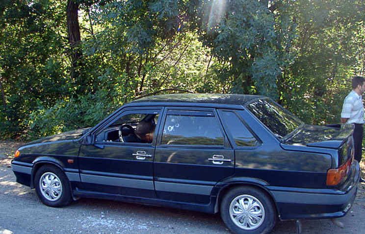 Автомобиль, в котором была расстреляна семья Дмитрия Чудакова