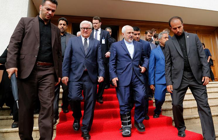 Министр иностранных дел Германии Франк-Вальтер Штайнмайер и министр иностранных дел Ирана Мохаммад Джавад Зариф