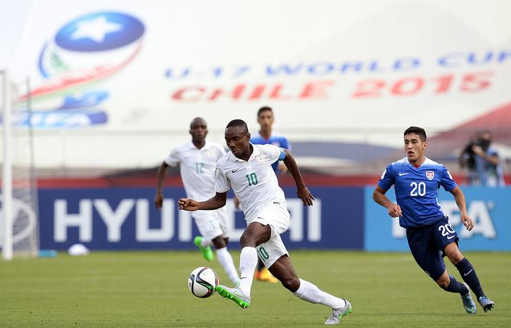Полузащитник юношеской сборной Нигерии по футболу Келечи Нвакали