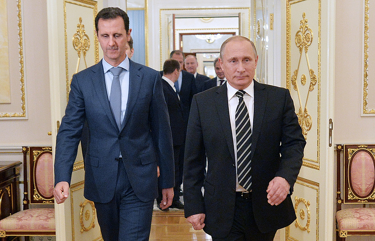 Президент Сирии Башар Асад и президент РФ Владимир Путин
