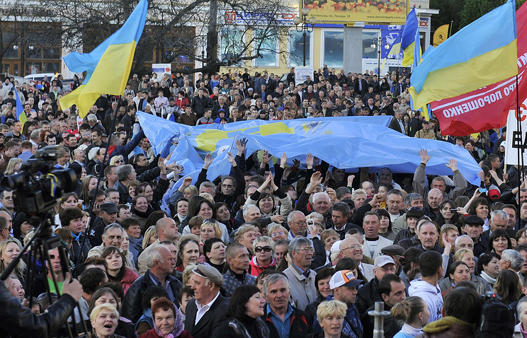 Во время митинга в Кировограде