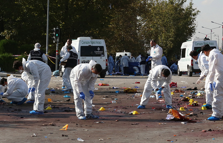 На месте взрыва в Анкаре