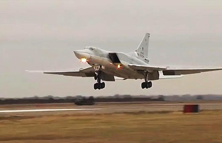 Бомбардировщик-ракетоносец Ту-22 Дальней авиации ВКС РФ