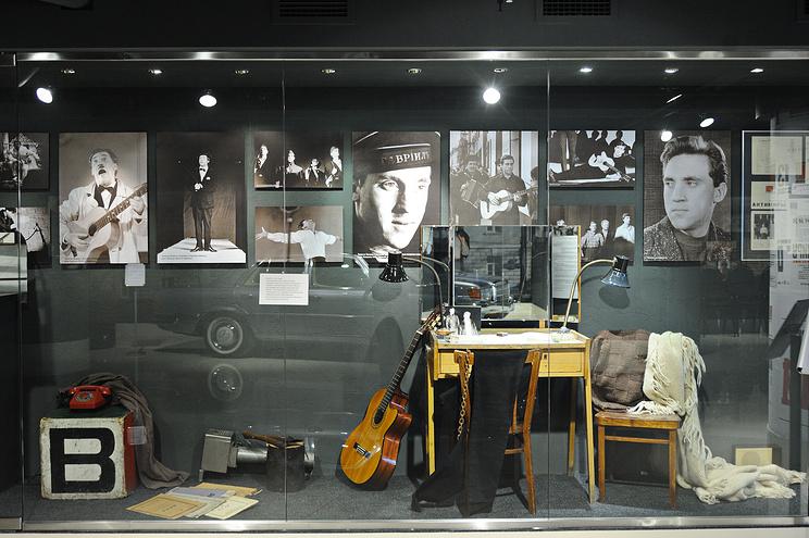 Экспозиция в музее Владимира Высоцкого в Екатеринбурге
