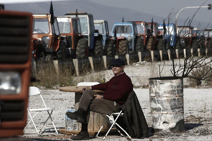 Забастовка фермеров в Греции