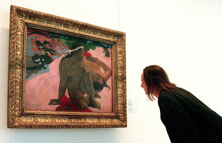 """Картина Поля Гогена  """"А, ты ревнуешь?"""""""