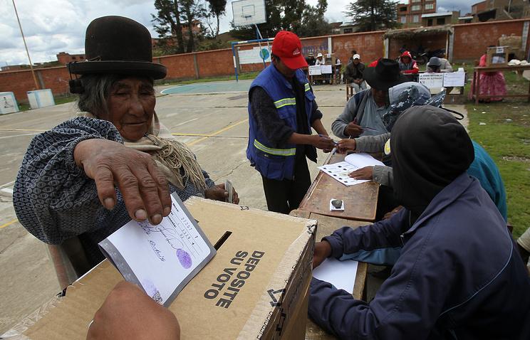 Голосование на референдуме в Боливии