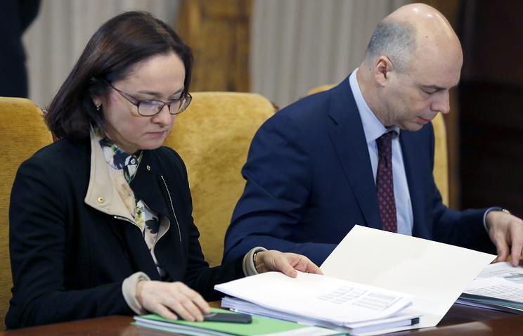 Председатель Центрального банка РФ Эльвира Набиуллина и министр финансов РФ Антон Силуанов